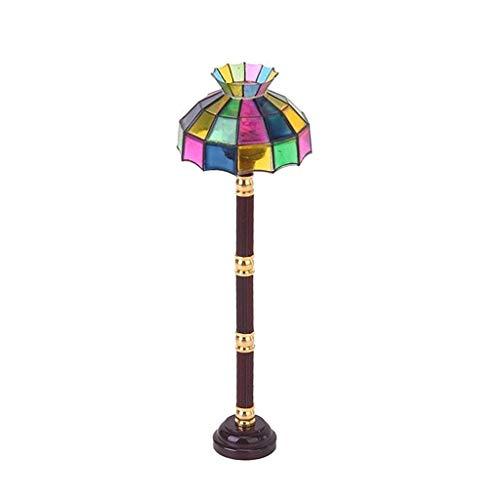 babyHUIH 1:12 Mini DIY Dollhouse Miniature LED Light Floor Lamp Light Living Room Doll House Accessories Toy