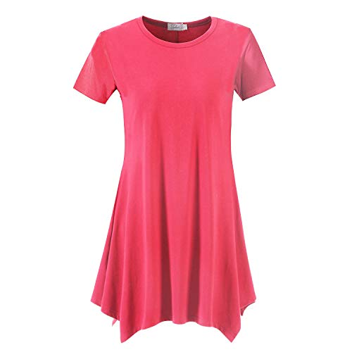 (Topdress Women's Loose Fit Swing Shirt Casual Tunic Top Leggings Watermelon L)