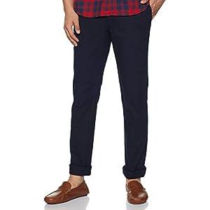 blackberrys Mens 4 Pocket Solid Trousers