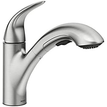 moen 87039srs one handle pullout kitchen faucet spot resist stainless - Pull Out Kitchen Faucet
