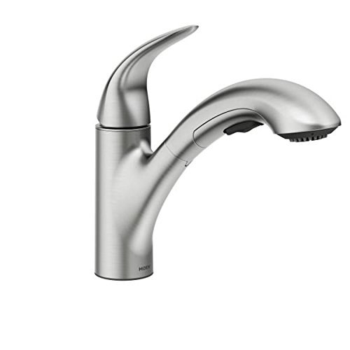 Moen 87039SRS One-Handle Pullout Kitchen Faucet, Spot Resist Stainless