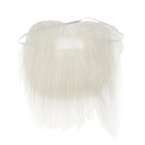 Pirate Santa Costume Party Cosplay Long Beard Moustache Artificial Hair - White, Length:210mm (Artificial Moustache)
