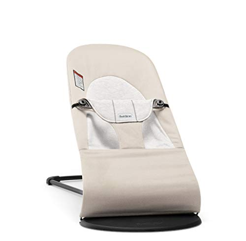 BABYBJORN Bouncer Balance Soft - Beige/Gray, Jersey Cotton ()