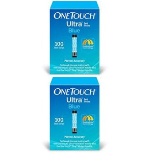One Touch Ultra Blue Glucose Test Strips (200-Strips) by One Touch Ultra