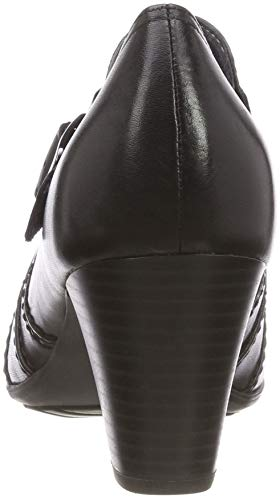 Be 24400 001 21 Femme Noir black Mocassins Natural rUwTf4nqr