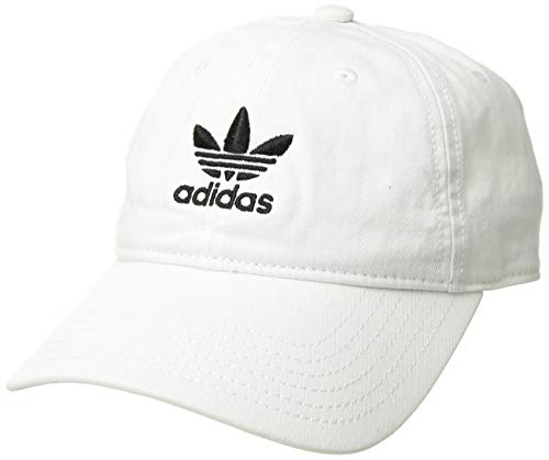 adidas Boys / Youth Originals Relaxed Adjustable Strapback Cap, White/Black, One Size