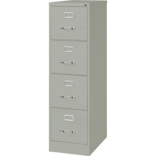 Light Gray Vertical 4 Drawer (Lorell 4-Drawer Vertical File with Lock, 15 by 26-1/2 by 52-Inch, Light Gray)