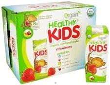 Orgain Organic Healthy Kids Strawberry Nutritional Shake, 8.25 Fluid Ounce - 12 per case.