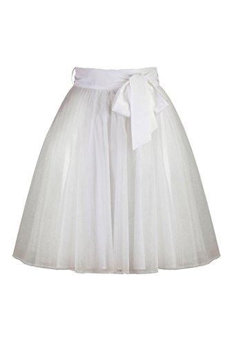 eShakti Women's Dahlia crinoline M-8 Regular White