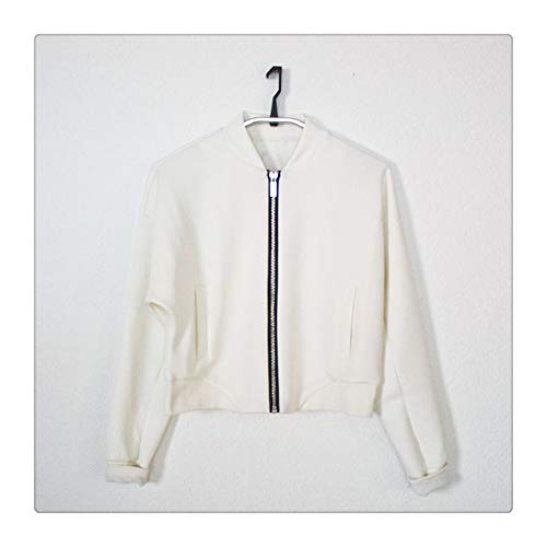 Cardigan Color S manches molleton White en Manteau longues 92 Retour White Size T0qvExwptt
