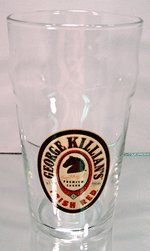 George Killian's Irish Red Premium Lager Tulip Glasses - Set of 4 Brewery Beer Glassware