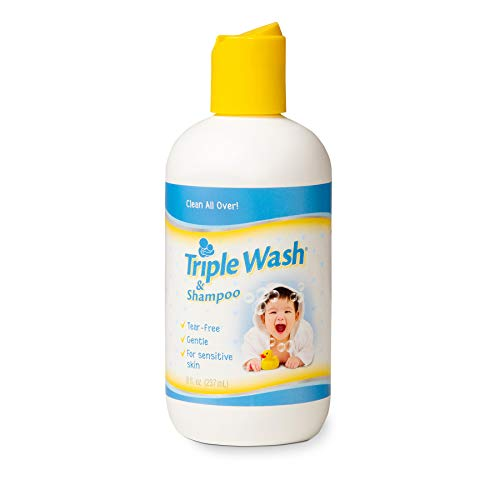 (Triple Wash/Shampoo for Baby's Sensitive Skin - Fragrance-Free - 8 oz.)