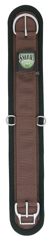 Felt Lined Straight Smart Cinch with Roll Snug Cinch Buckle, Brown, (Lined Saddle)