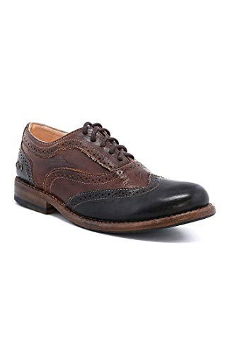 Bed Stu Women's Lita Oxford Teak/Black Rustic Rust Leather Shoe 7.5 B(M) US F321102