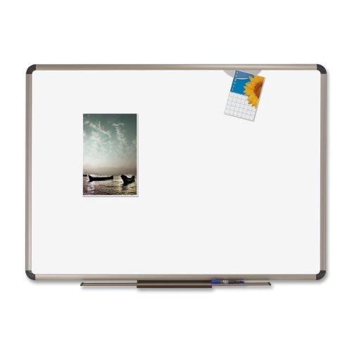 Quartet Euro Premium Porcelain Marker Boards-Dry-erase Board, White Porcelain Board,6'x4',Titanium Frame (Marker Board Porcelain Premium)