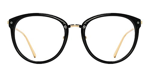 TIJN Vintage Optical Eyewear Non-prescription Eyeglasses Frame with Clear Lenses for Women