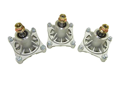 proven part Set of 3 Replacement Mower Deck Spindle Assembly Hustler 604214 Raptor ()