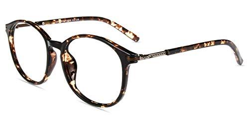 - Firmoo Blue Light Filter Eyeglasses(Anti Fatigue/Anti Eyestrain),Stylish Round Tortoise Computer Glasses for Women/Men