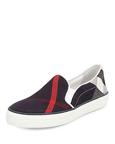 Burberry Women's Gauden Sneaker Navy Check 39.5 (US 9.5) B - Medium