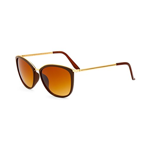 Royal Son UV Protected Square Women Sunglasses (WHAT3545|62|Brown Lens)
