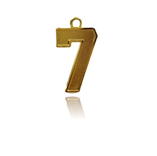 Number 7 Jersey Style Sports Necklace Charm Pendant (0.8