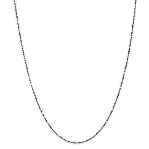 14k White Gold 1.2mm Solid Spiga Chain Necklace 20 Inch Pendant Charm Wheat Fine Jewelry Gifts For Women For Her