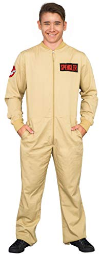 Mad Engine Ghostbusters Adult Costume Zip up Jumpsuit with 4 Interchangeable Patches - http://coolthings.us