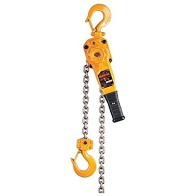 "Harrington LB Series Steel Lever Hoist, 16-19/64"" Lever, 3 Ton Capacity, 20' Lift Height, 1.5"" Opening, 15.6"" Headroom"