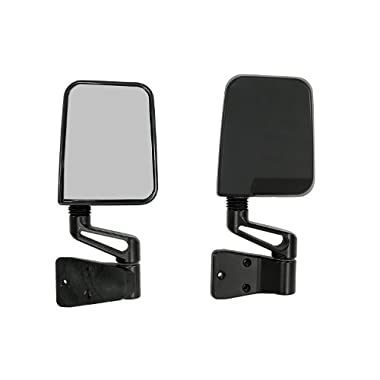 Rugged Ridge 11002.03 Factory Style Black Side Mirror - Pair
