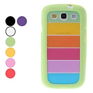 Rainbow Design Durable Hard Case for Samsung Galaxy S3 I9300 (Assorted Colors) , Green