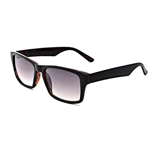 Zoo York Men's Rectangular Sunglasses, Black with Tokyo Tortoise Interior Frame, APG Smoke Flash Mirror Lens, 55.5mm