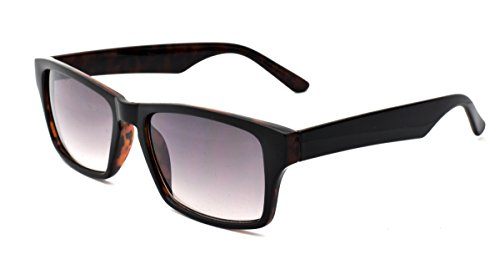 Zoo York Men's Rectangular Sunglasses, Black with Tokyo Tortoise Interior Frame, APG Smoke Flash Mirror Lens, - York Zoo Eyewear