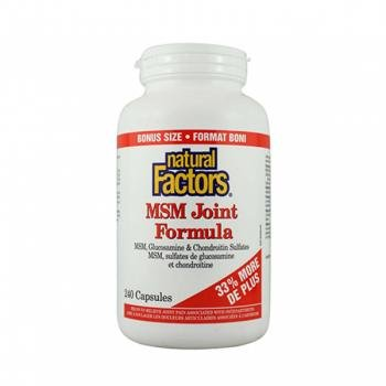Natural Factors MSM Joint Form 240 Capsules