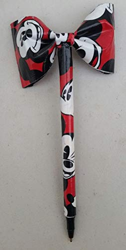 Mickey Mouse Disney Duct Tape Bow Pen -