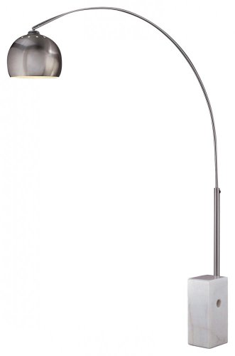 (George Kovacs P054-084 One Light Arc Floor Lamp, 62