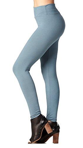 Soft High Waisted Leggings for Women - Full Length Sea Foam Blue - Large/X-Large (12-22) - Plus