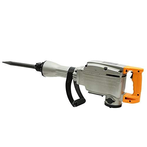 Orihat 2200Watt Electric Demolition Jack Hammer Concrete Breaker Heavy Duty Rotary Powerful Tool+Case & Gloves (Silver)