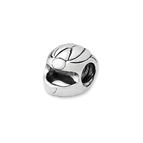 Racing Helmet Charm in Silver For 3mm Charm Bracelets