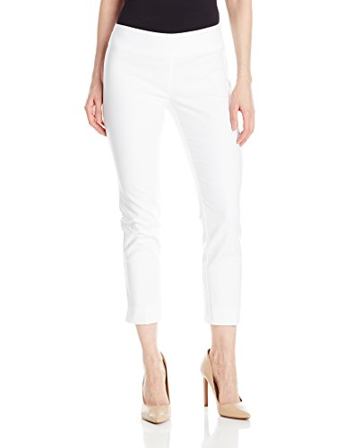 NIC+ZOE Women's Petite Size Perfect Pant Modern Slim Ankle, Paper White, 10P by NIC+ZOE