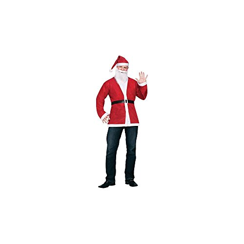 Fun World Adult Pub Crawl Santa Jacket Kit Costume (Santa Pub Crawl)