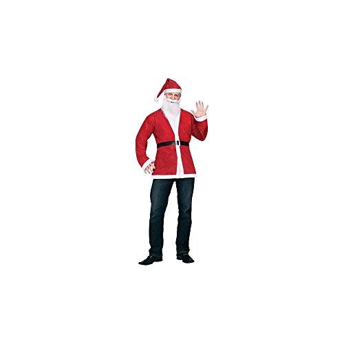 Fun World Disposable Santa Suit (Santa Jacket And Hat)
