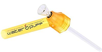 WaterPuff - Portable instant waterpipe, fits on any glass or plastic bottle Official Amazon Launch - YELLOW colour
