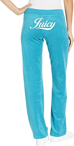 Juicy Couture Women's Juicy Script Microterry Mar Vista Pants Pacific Medium 32 ()