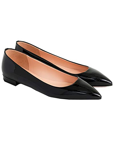 J.Crew Women's Pointy Toe Flat Black 9 B US