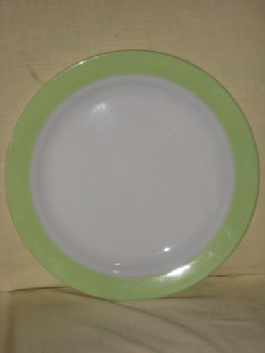 Vintage Pyrex Large   Lime Green u0026 White   12 Inch Glass Serving Plate - Made In USA & Pyrex Dinner Plates. Spring Blossom Green (Crazy Daisy) 12 Piece Set ...