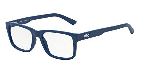 Armani Exchange AX3016 Eyeglass Frames 8114-53 - Matte Dark Maritime AX3016-8114-53 by GIORGIO ARMANI