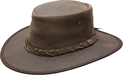Lone Wolf Leather Hat Large, Brown ()
