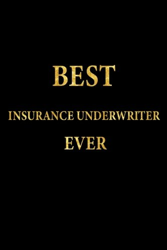 Read Online Best Insurance Underwriter Ever: Lined Notebook, Gold Letters Cover, Diary, Journal, 6 x 9 in., 110 Lined Pages pdf epub