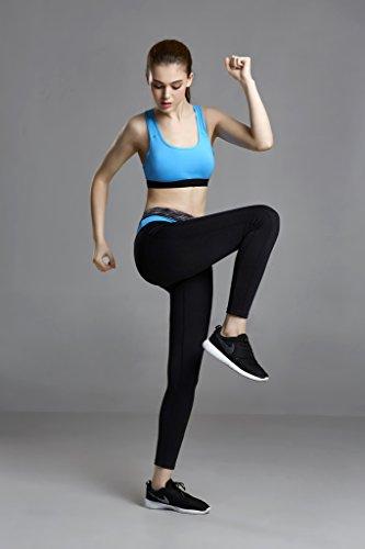 SIMYJOY Ropa interior femenina ropa deportiva sujetador tops de yoga para correr/gimnasio Para Mujer Azul