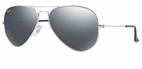 (Ray Ban RB3025 003/40 62M Silver/ Gray Mirror Aviator)